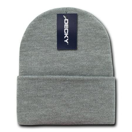 Ivory Acrylic Cameo (decky 613-hgr acrylic knit caps, heather grey)