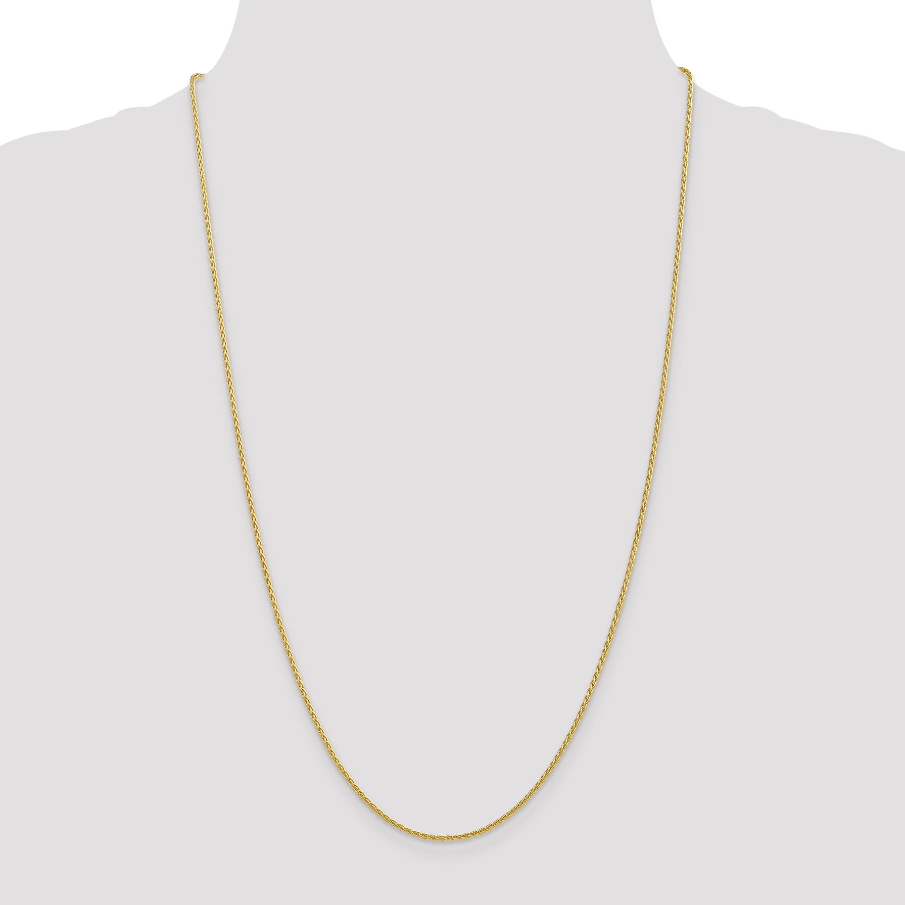 14K Yellow Gold 1.5mm Parisian Wheat Chain 16 Inch - image 1 de 5