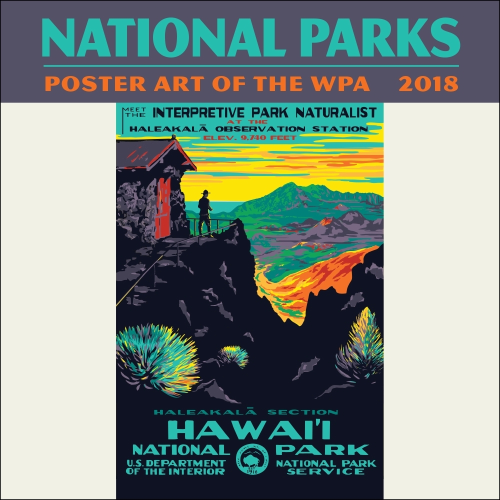 2018 National Parks Poster Art Of The WPA Mini Wall