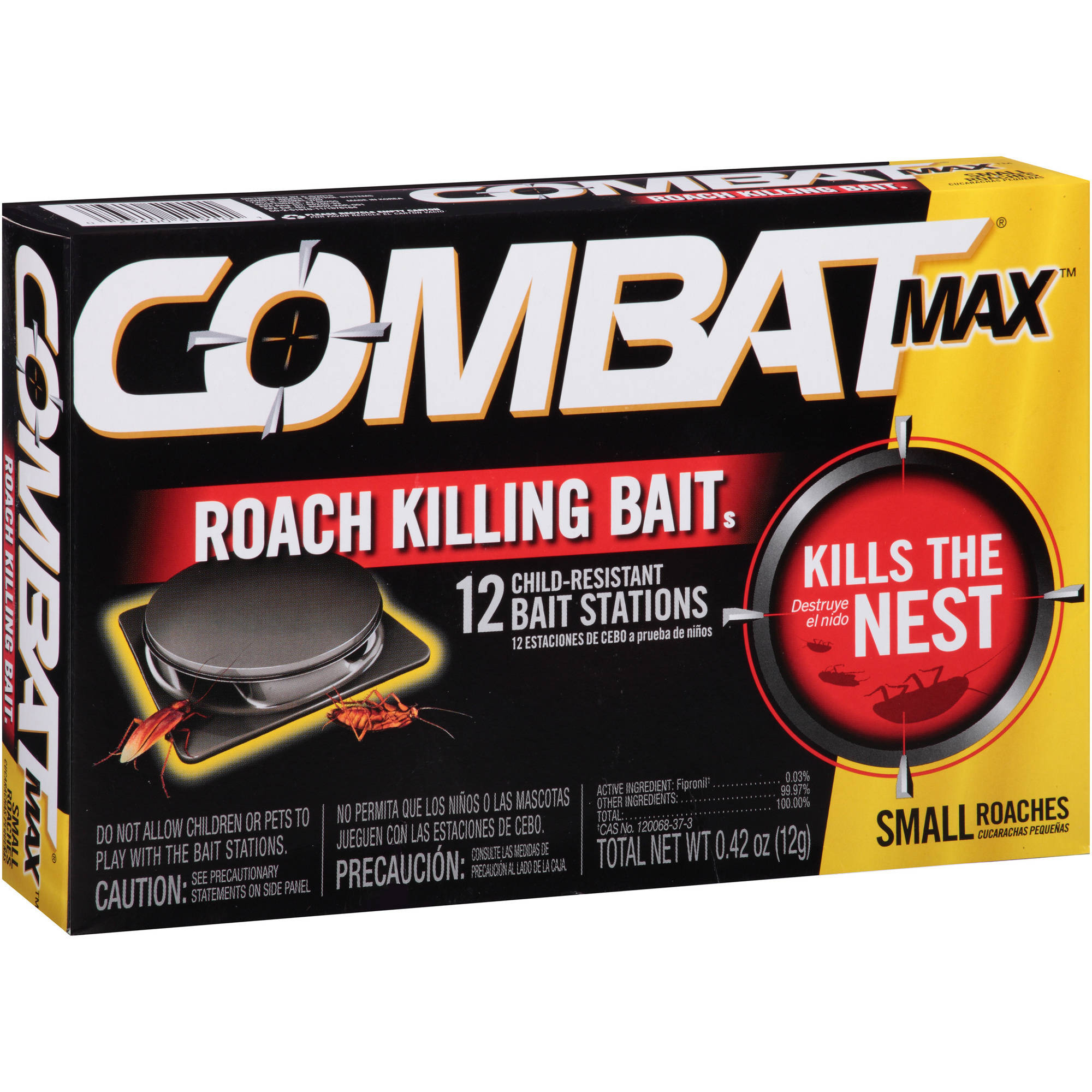 Combat Max Small Roaches Roach Killing Bait Stations, 12 count
