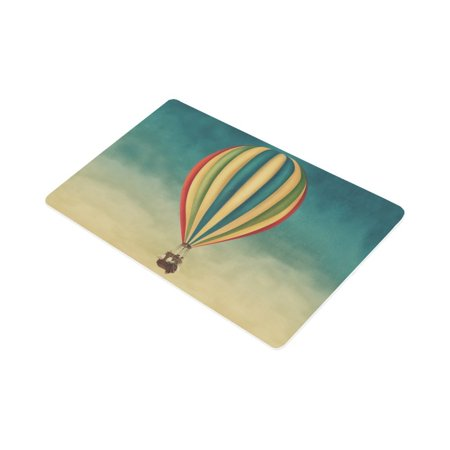 YUSDECOR Vintage Hot Air Balloon High in The Sky Doormat Rug Home Decor Floor Mat Bath Mat 30x18 inch - image 2 of 3