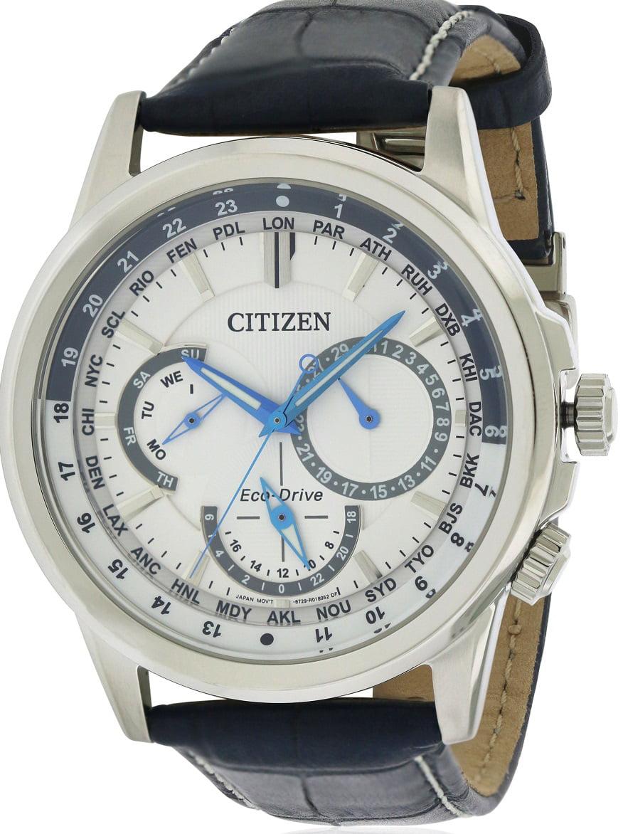 Citizen Eco-Drive Calendrier Leather Men's Watch, BU2020-02A