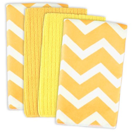 Green Covered Vegetable Dish - DII Yellow Chevron Dishtowel (Set of 4), 16x19