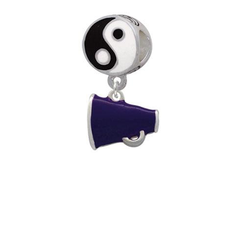 Small Purple Megaphone - Yin Yang Charm Bead