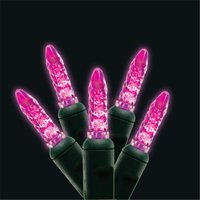 Kellogg Plastics 41661 0.75 in. Holiday & Christmas Indoor & Outdoor M5 Base LED- Pink