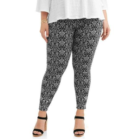 b5f4f8870ec78 Terra & Sky - Women's Plus Size Full Length Super Soft Jegging - Walmart.com