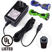 Universal Hoverboard Charger - Lithium Battery Charger for Razor Hovertrax 2.0, SWAGWAY X1, SWAGTRON T1 T3 T6, Output 36V - 42V 1A