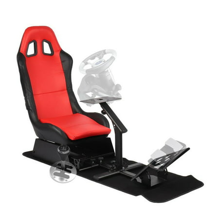 ACEHE Racing Seat Driving Simulator Cockpit Adjustable Gaming Chair +  Steering Wheel / Pedal / Gear Shifter Mount,Racing Simulator Seat With  Steering