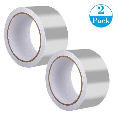 0.5 Aluminum Adhesive (Aluminum Foil Tape, TSV Aluminum Reflective Air Duct Tape, Self Adhesive Aluminum Tape Foil for HVAC, Pipe, 65 FT x 2inches, 1Pack/2)