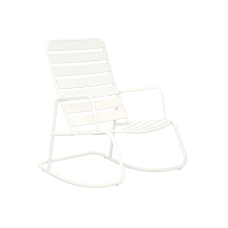 Cedar Rocking Chair (Novogratz Poolside Gossip Collection, Roberta Outdoor Rocking Chair, White )