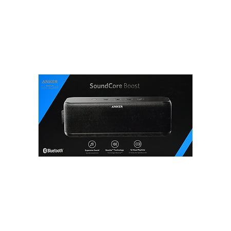 Anker SoundCore Boost 20W Bluetooth Speaker with BassUp Technology - 12h Playtime, IPX5 Water-Resistant, Portable Battery with 66ft Bluetooth Range / Superior Sound & Bass for iPhone, Samsung and more