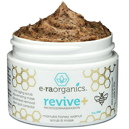 - Microdermabrasion Facial Scrub & Face Exfoliator - Natural Exfoliating Face Mask with Manuka Honey & Walnut - Moisturizing Facial Exfoliant for Dull or Dry Skin, Wrinkles, Blemishes, Acne Scars & More
