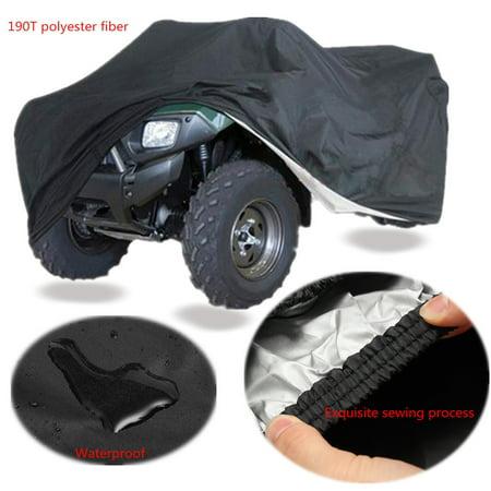 XXXL Black Quad Bike Tractor ATV ATC Cover Anti-UV Rain WaterProof Heatproof - image 3 de 7