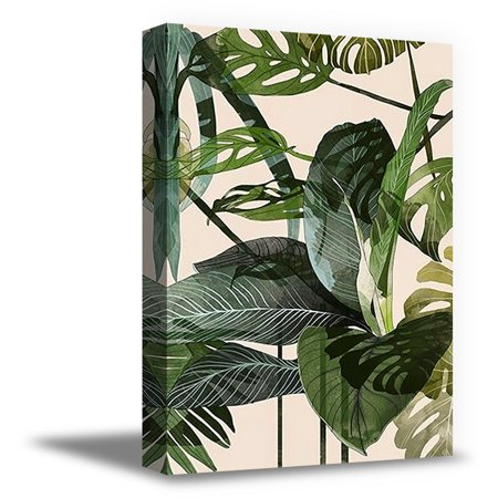 Awkward Styles Modern Artwork Plants Canvas Wall Decor for Office Inspirational Canvas Prints Foliage Room Decor Green Grass Framed Art Inspirational Vinyl Art Beautiful Nature Art Home Decor Ideas (Framed Inspirational Art)
