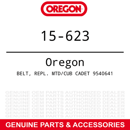 Oregon Deck Drive Belt MTD Cub Cadet 1500 Series 38