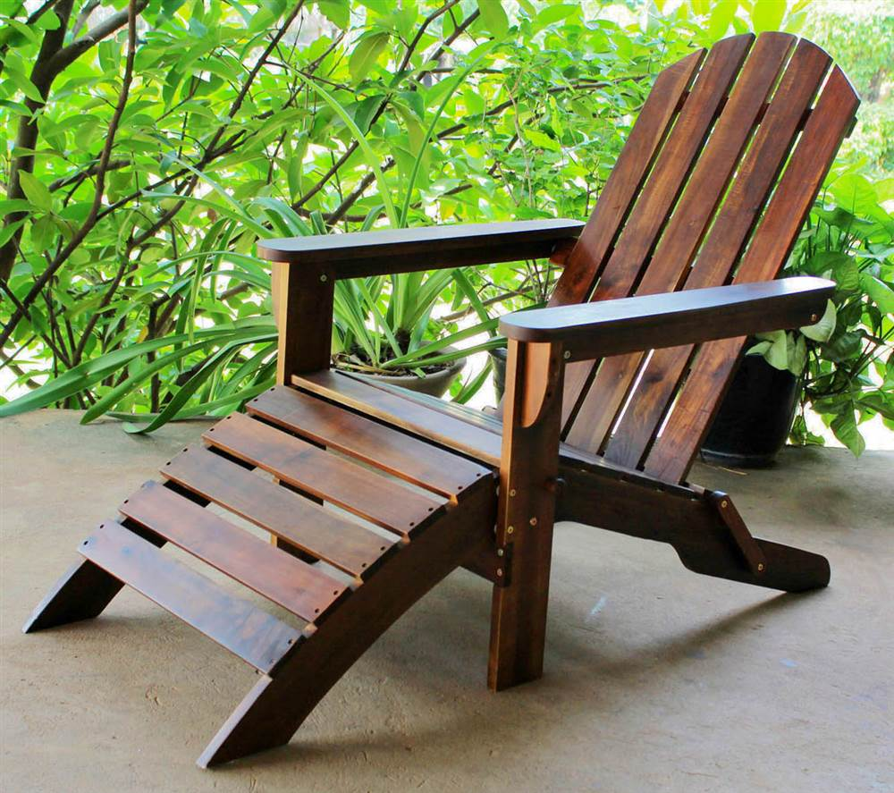Adirondack Patio Chair with Foot Rest by International Caravan