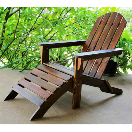 adirondack patio chair with foot rest. Black Bedroom Furniture Sets. Home Design Ideas