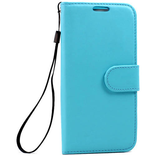 KIKO Wireless Folio Flip Leather Wallet Case All Around Protection Card Slot Shock-Absorbing Shockproof Impact-Resistant Cover Fashion Design, with Strap for Samsung Galaxy S7