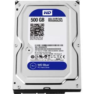 WD Blue 500 GB 3.5-inch SATA 6 Gb/s 5400 RPM 64 MB Cache PC Hard Drive - SATA - 5400rpm - 64 MB Buffer 6GB/S 3.5IN PC HARD DRIVE