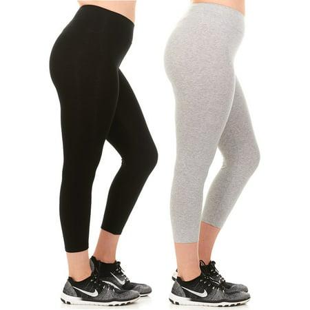 8783283e09cc6 Unique Styles - Unique Styles Women s Capri Length Leggings Cotton in  Regular and Plus Sizes