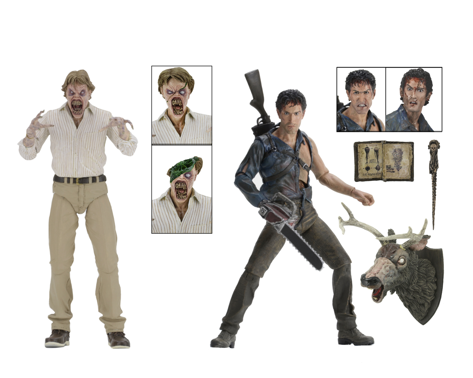Evil Dead 2 (30th Anniversary)�Boxed Set � 7� Scale Action Figures � Hero Ash and Deadite... by