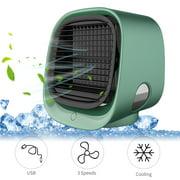 300mL Desktop Air Cooler Air Conditioner Fan Small USB Desk Fan Air Cooler 3 Speeds Cooling Fan for Home Room Office