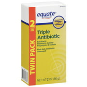 Equate Triple Antibiotic First Aid Ointment Twinpack, 2 oz