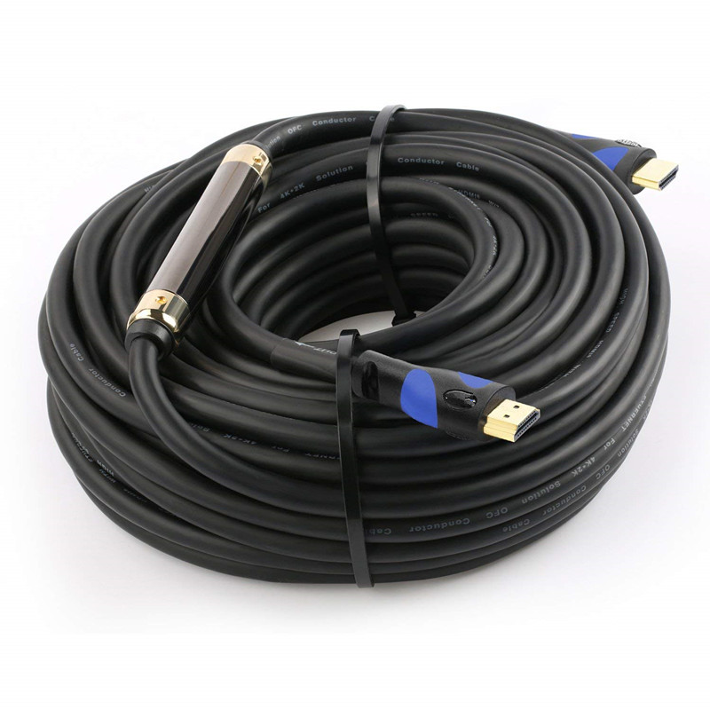 HDMI Cable 100 Ft, High Speed HDMI Cable (100 Feet / 30.48 Meters) Supports 3D Audio Return Channel CL2 In-Wall Rated with Ethernet And Build-in Signal Booster, Black