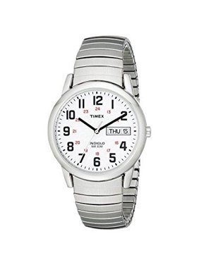 Mens T20461 Easy Reader Silver-Tone Expansion Band Watch