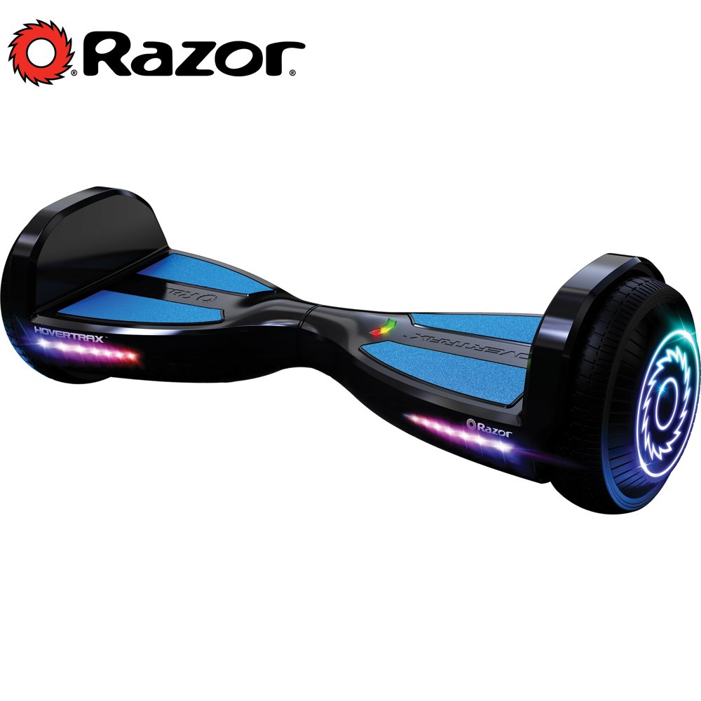 Razor Black Label Hovertrax with LED Lights, UL2272 Certified Self-Balancing Hoverboard Scooter, Customizable Grip Tape and Speeds up to 9 mph