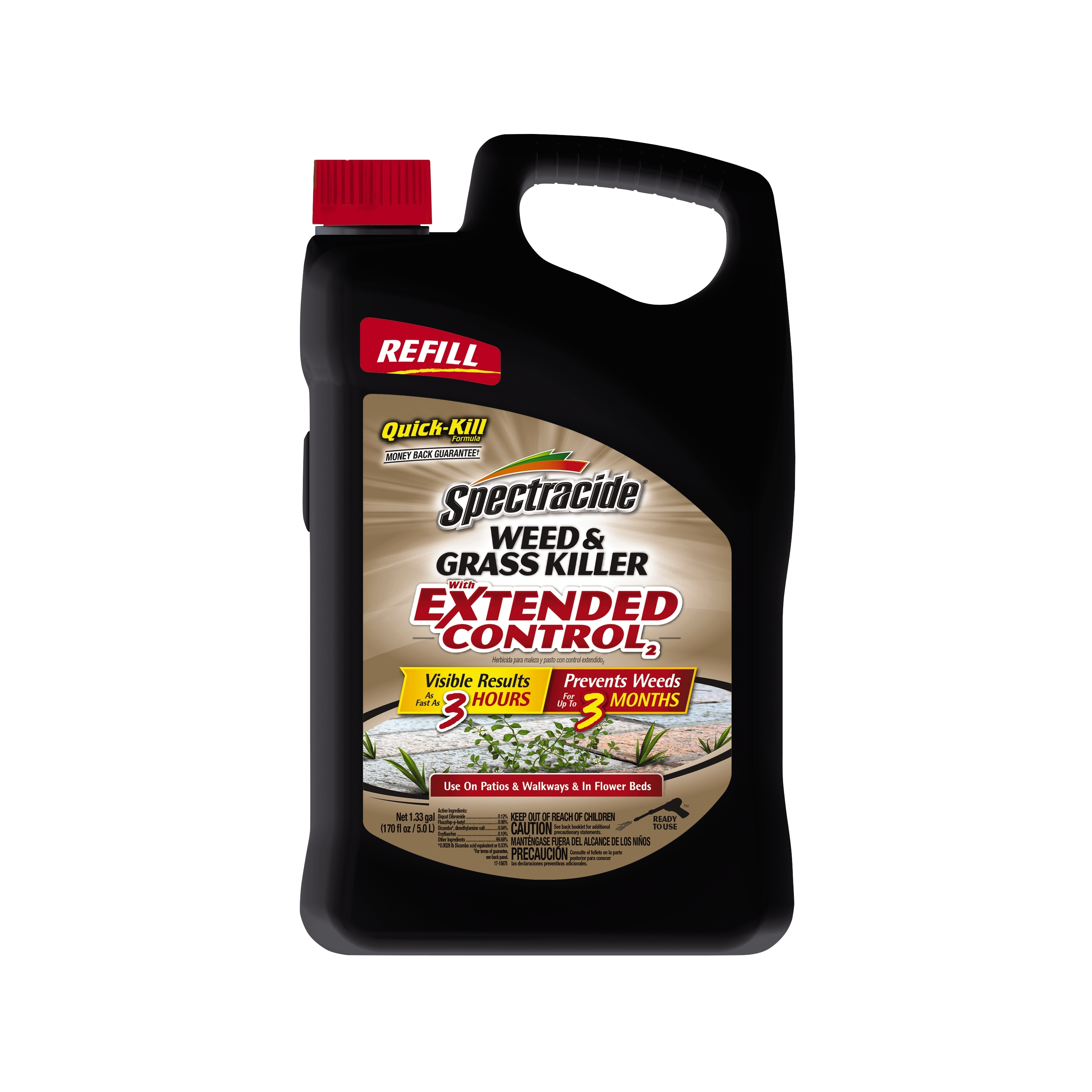 Spectracide Weed & Grass Killer w/ Extended Control, Refill, 1.33 G