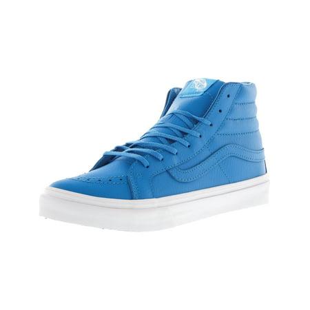 6d31d9f1a58886 VANS - Vans Sk8-Hi Slim Neon Leather Blue   True White High-Top  Skateboarding Shoe - 8M 6.5M - Walmart.com
