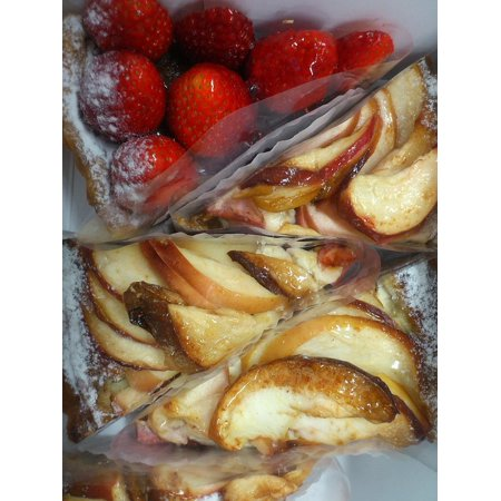 Triangle Cut Center - LAMINATED POSTER Cut Strawberry Cake Pie Apple Triangle Poster Print 24 x 36