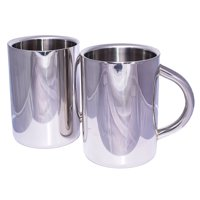 Insulated Beer Mug Cuissentials Stainless Steel Beer Mug & Coffee Mug Set of 2 16 Oz. Double Wall Air Insulated Mirror... by Cuissentials