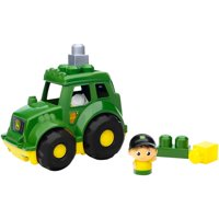 Mega Bloks John Deere Lil' Tractor with 1-Block Buddy Figure
