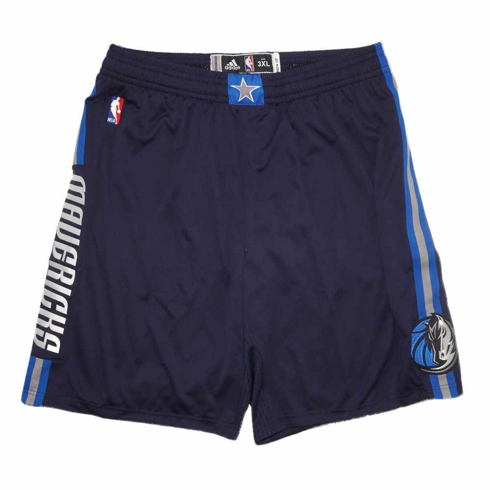 Dallas Mavericks NBA Adidas Navy Blue Authentic On-Court Team Issued Pro Cut Game Shorts Shorts For Men