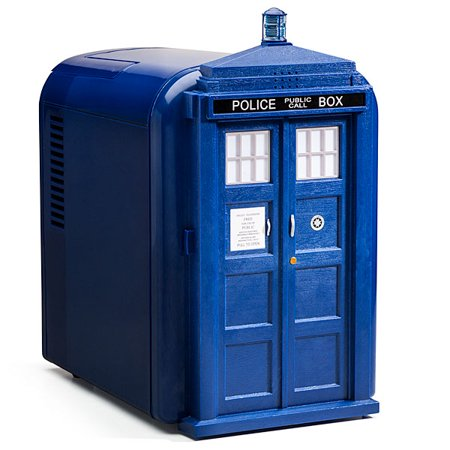 Doctor Who Blue Tardis 4L Officially Licensed Office Dorm Compact Mini  Fridge. Doctor Who Blue Tardis 4L Officially Licensed Office Dorm Compact