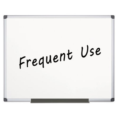 Mastervision Value Lacquered Steel Magnetic Dry Erase Board, 48 x 72, White