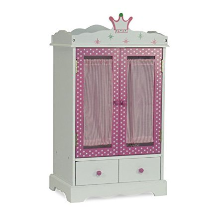 "My Life as Doll Furniture Closet by Emily Rose 18 Inch Doll Clothes Storage for Journey Girls | 18"" Furniture for American Girl Dolls 