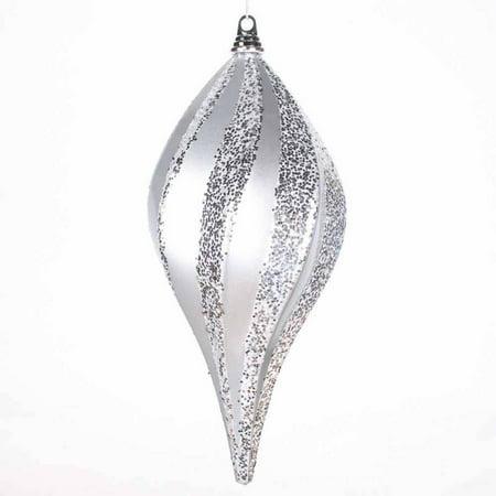 Vickerman 8 Glitter Swirl Drop Christmas Ornament