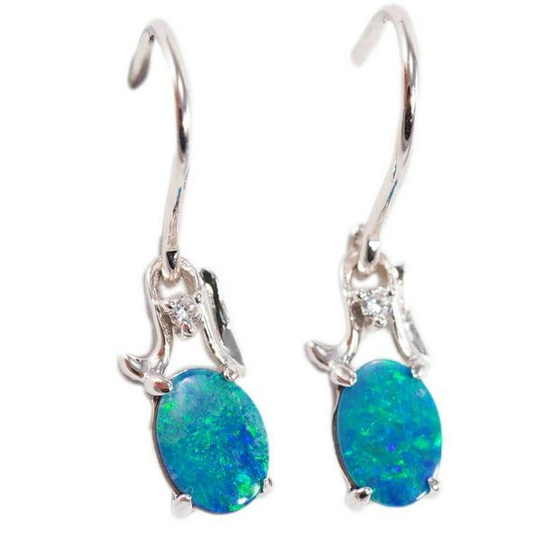Natural Opal Drops Earrings Birthstone Earrings Fire Opal Earrings Jewelry Drops Opal Jewelry 925 Sterling Silver Earrings