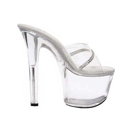 7 Inch High Heel Sandals (Women's Transparent Sandals High Platform Shoes Slides 7 Inch Heels)