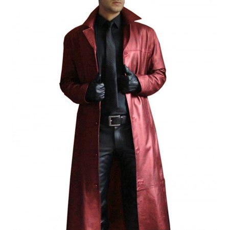 Men Winter Gothic Steampunk Long Trench Coat Plus Size Turn Neck Solid Long Leather Coat Casual Cool Men Motocycle Warm Jackets (Steampunk Vest Men)