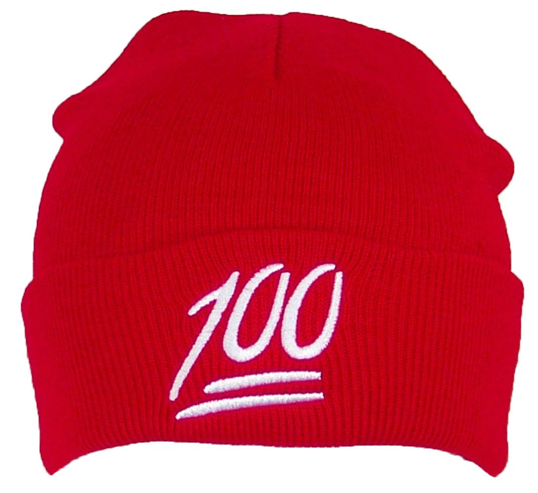 Best Winter Hats - Best Winter Hats Kids Emoji 100 Symbol Cuffed Beanie  (One Size) - Red - Walmart.com fa82faa5049