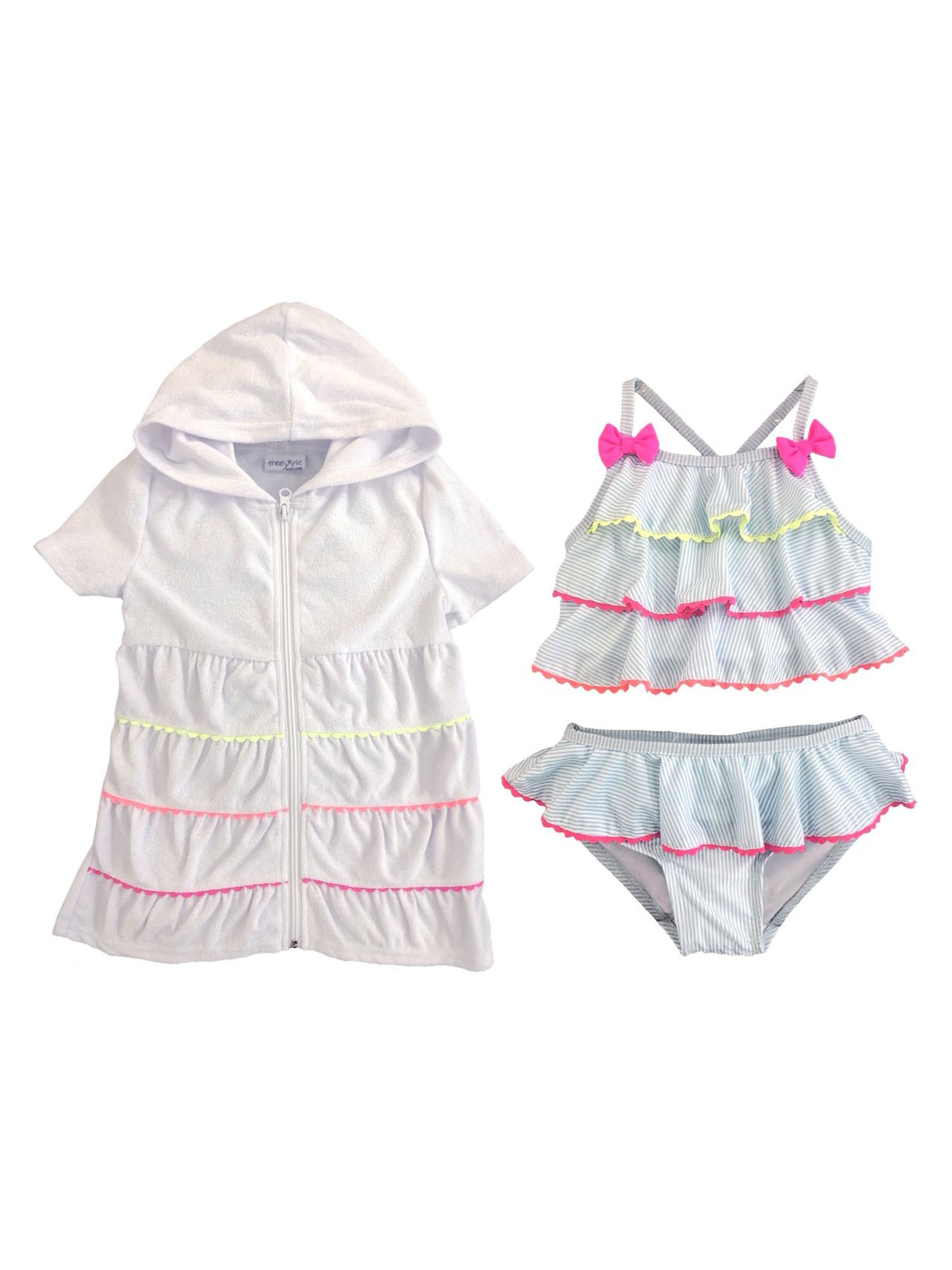 Tankini Swimsuit and Terry Cover Up, 2-Piece Set (Toddler and Infant Girls)