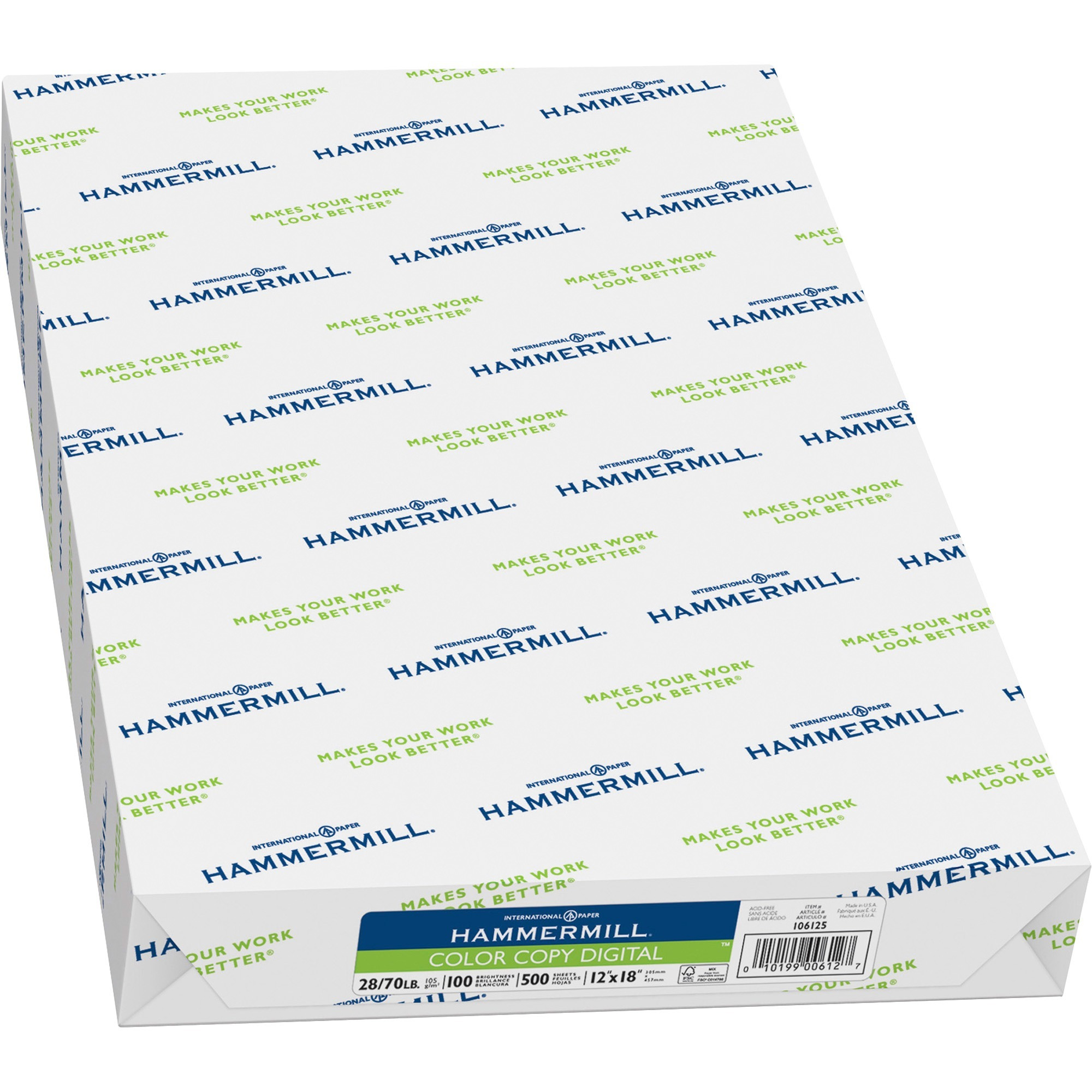 Hammermill, HAM106125, Photo White Surface Color Copy Paper, 500 / Ream, White