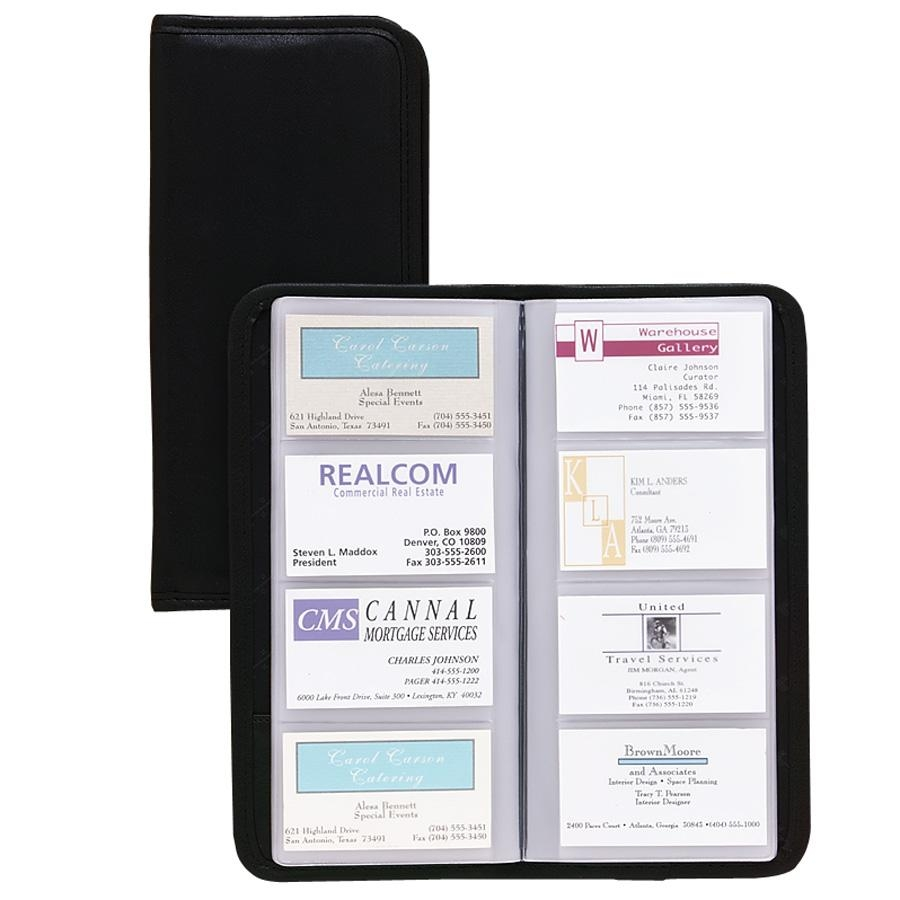Samsill Sterling Business Card Holder - 160 Capacitystitched (SAM80850)