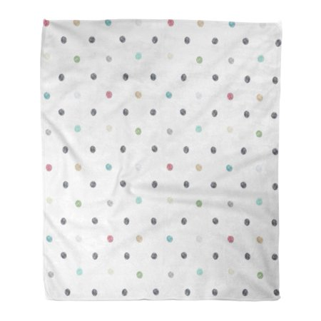 ASHLEIGH Throw Blanket 58x80 Inches Ball Hand Draw Polka Dot Child Baby Sheet Bedclothes Bedding Blob Diaper Warm Flannel Soft Blanket for Couch Sofa Bed