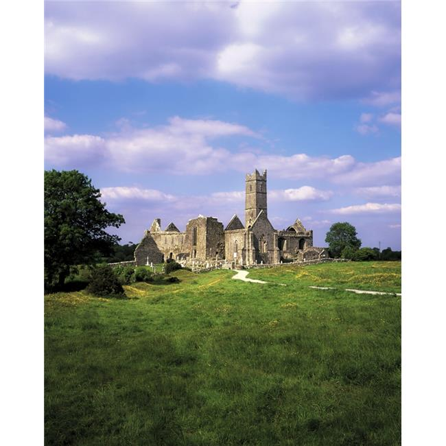 Quin Abbey Quin Co Clare Ireland - Franciscan Abbey Founded in 1433 Poster Print by The Irish Image Collection, 26 x 34 - Large - image 1 of 1