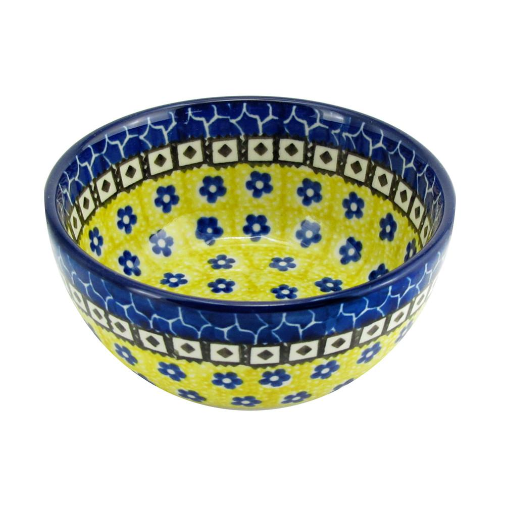 "Polish Pottery 4.5"", 10 Oz. Ice Cream Dessert Bowl Boleslawiec Traditional Pattern  017-859"